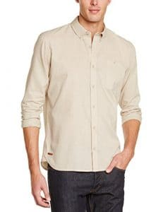 Oxbow Libche Chemise manches longues Homme Gravier FR : L (Taille Fabricant : L)