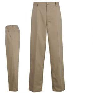 Dunlop Pantalon Golf pantalon Coupe droite Outdoor Golf Loisirs Pantalon neuf – Marron – W40