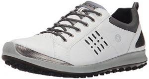 Ecco Men's Biom Hybrid 2, Chaussures de Golf Homme, Blanc (51227WHITE/Black), 42 EU