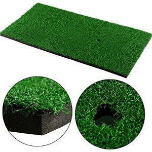 Foxcesd Tapis de golf, Golf Résidentielles Practise A tapis Portable Conduite/éclats intérieure et extérieure pour golf d'exercice au bureau, à la maison et jardin Swing Aide à la formation, 30,5x 61cm Tee non inclus