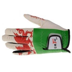 GMTee Gant de golf imperméable Main gauche pour golfeur droitier Pays de Galles Blanc blanc M/L