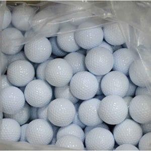 MUANI Double Couche Blanche Assortis Lac Balles de Pratique de Golf