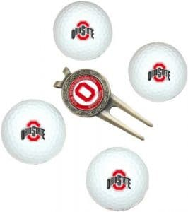 NCAA Ohio State 4-Pack Team Golf Ball Gift Set by Team Golf