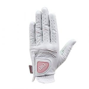 OIO Premier Cabretta Femme Gants de Golf Coupe-vent (Blanc, Medium)