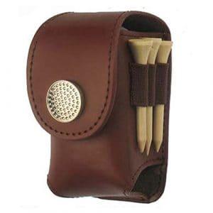 Portable pour balle de golf Tour de taille Pochette Sac en cuir Cool Sac de golf Tee Sports accessoire, café