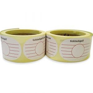 Ticktockgolf–Practise Swing Impact Tape (500A Stickers/étiquettes)
