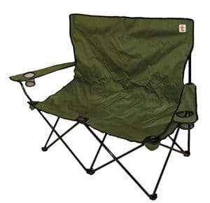 TrottyBrand Double Chaise de Camping Pliante – Big – Solide, CC100, Green, 55 x 148 x 98 cm
