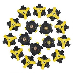 Ulable 16pcs Jaune Golf Crampons Champ Spike Stinger Chaussures de remplacement Spike Tack