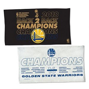 Wincraft Golden State Warriors 2018 Dos à Dos NBA Champions Locker Room Serviette