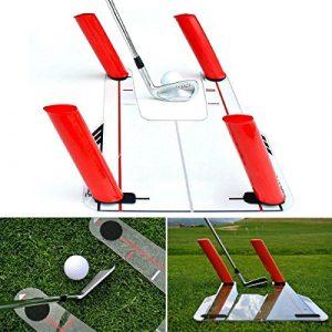 Aide de formation d'oscillation de golf de base de trappe de vitesse pour une meilleure pratique de capture de boule-Golf Speed Trap Base& 4 Speed Rods by Golf