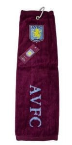 Aston Villa Fc Golf Tri-Fold Towel by Aston Villa F.C.