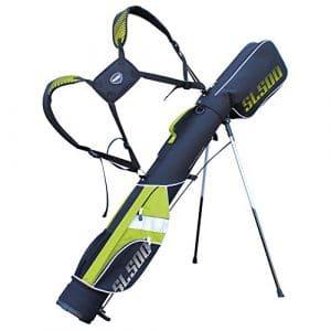killa Golf Deluxe Sac de golf trépied SL500Supalite pour le voyage/sac/rang Rangebag/Pistolbag/de voyage pour jusqu'à 8clubs–Avec bretelles tertem Sac à dos Système de transport, noir/citron vert