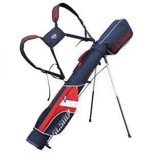 killa Golf Deluxe Sac de golf trépied SL500Supalite pour le voyage/sac/rang Rangebag/Pistolbag/de voyage pour jusqu'à 8clubs–Avec bretelles tertem Sac à dos Système de transport, noir/rouge