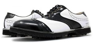 PORTMANN Chaussures de Golf Pour Homme – Noir – Black Cabrio White Tumbled, 44 EU