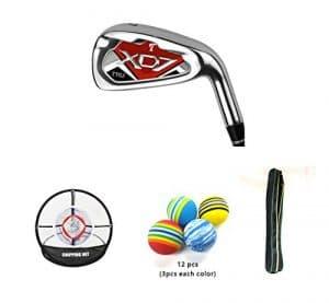 Posma Gc701mc Manche en graphite haute qualité clubs de golf # 7pour homme Bundle Ensemble cadeau avec 1pièce Golf d'entraînement éclats Net + 12pcs EVA Boule + 1pc clubs de golf léger Sac de transport