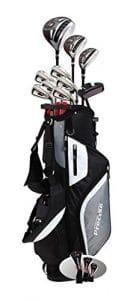 Precise Ensemble Complet De Golf M5 Pour Hommes Un Club Hybride En Acier Inoxydable, Des Fers 5-Pw En Acier Inoxydable, Un Putter, Un Sac Trépied, 3 Clubs À Angle De Lancement Élevé