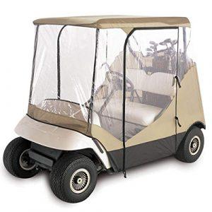 ShopSquare64 210D Oxford Tissu + PVC Golf Chariot Couverture Pluie 2 Passager pour Club Car Classic Accessoires