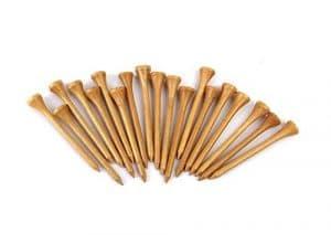 TYKusm 100pcs ongles bâton de tenue de balle de golf tees de golf en bois (Bois Couleur)