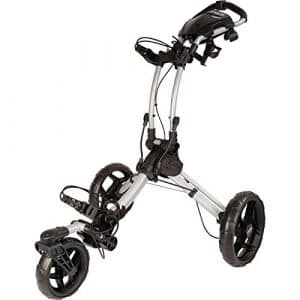 2016 Clicgear Rovic RV1S 3-Wheel Pull/Push Golf Trolley/Cart Silver/Black