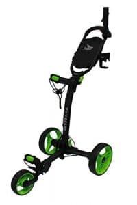 Axglo Axtrilite Chariot de Golf Mixte Adulte, Noire/Vert