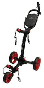 Axglo Axtrilite Chariot de Golf Mixte Adulte, Noir/Rouge