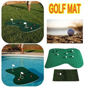 Biback Golf Cour arrière Jeu Mat Set Eau Flottante Green Water Vert Mat