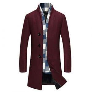 CAI&HONG-GUO GCC Manteau de Laine Automne et Hiver Hommes Coupe-Vent, C, XL