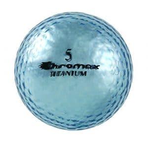 Chromax Haute visibilité M1X Balles de Golf, Lot de 6balles (Nouvelle Version), Bleu