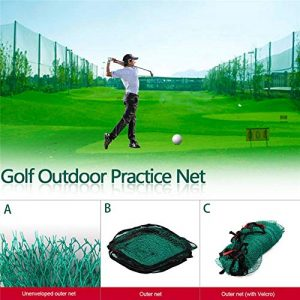 Comaie Net Sports Garden Golf Filet extérieur Grande Practise Trainer Stimulateur, Multi-Color, Golf Net Edging + Hook and Loop