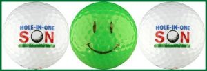 Enjoy Life Hole-in-one fils Balles de golf W/Smiley