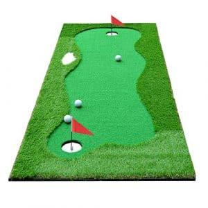 HOGAR AMO Golf Tapis de Putting 75 cm x 300 cm Golf d'entraînement Intérieur/Extérieur Tapis de Putting Golf Cadeau