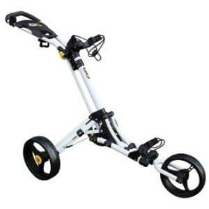 iCart Go Chariot de golf à 3roues (Blanc/jaune)