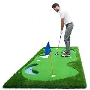 LEI ZE JUN UK- Golf mettant en Pratique Le Vert Artificiel de dégradé de Couverture d'exercice d'intérieur avec la Pente
