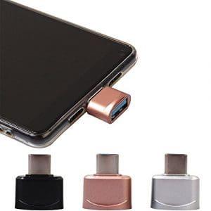 Liqiqi USB Type C mâle vers USB-A 2.0Femelle OTG Adaptateur Cordon de synchronisation de données pour Samsung, MacBook, Chromebook Pixel, Nexus et Plus périphériques USB Type C et câble Micro USB