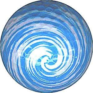 Novelty Golf Balls Bleu Swirl Balle de Golf sur Le thème Cadeau idéal de l'article Fun.