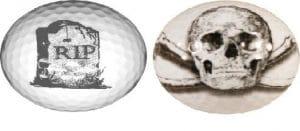 Novelty Golf Balls Squelette Balle de Golf Excellent Cadeau de l'article NE Ternissent Pas ou Puce