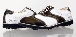 PORTMANN Chaussures de Golf Pour Homme – – Army TEXASRANCH White Tumbled, 41 EU