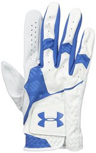Under Armour 2016 Cabretta Leather Cool Switch Mens Golf Gloves Left Hand (Right Handed Golfer) White/Squadron Medium/Large