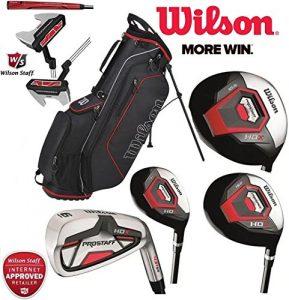 Wilson Prostaff HDX complet Club de golf en acier Ensemble et 2018Noir Ionix Sac de golf avec support NEUF