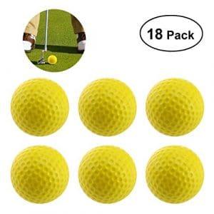 WINOMO 18pcs Balle de Practice Formation de Golf Balle en Mousse PU – Jaune