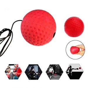 YIFEIKU Co.,Ltd. de Boxe Boule de Vitesse de Corde de Formation Reflex de l'œil de Réactions à la Main la Coordination de Boxe Punch de balles de Golf Bandeau, Enfant Homme, 60MM Ball