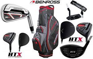 Benross HTX Compresseur complète club de golf en acier avec fers NEUF Main droite