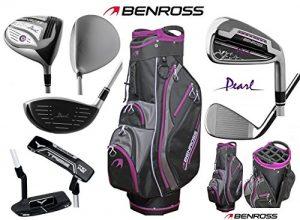 Benross pour femme Pearl complète club de golf et 2017Deluxe Pearl femmes Sac chariot