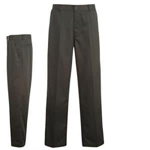 Dunlop Pantalon Golf pantalon Coupe droite Outdoor Golf Loisirs Pantalon neuf – Gris – W34