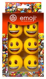 Emoji Lot de 6 balles de golf smiley fantaisies Multicolore
