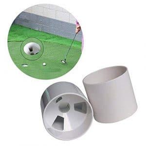 GFEU 2Pcs Golf Trou Tasse, Professionnel de Golf Putting entraînement de Football pour Trou de Protection de Football, 10,9cm, Blanc, 10 Pièces