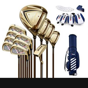 J.S-PGM Ultra-Haut Rebond Golf Club Golf Club Set Angle Réglable Axe Commutable 30 Arbre Ultra-Léger (Version Dorée, Version Or Noir Deux en Option),1