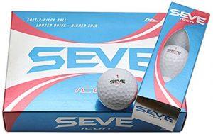 MD Golf Seve Set Balle de golf – Blanc – 1 Douzaine