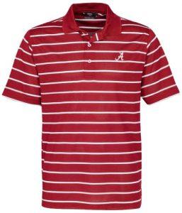 NCAA Alabama Crimson Tide pour homme Pebble Texture Polo de golf, bois de cerisier/blanc, 3x l