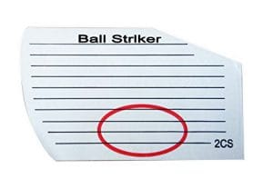 Tile & Sticker Golf Impact étiquettes Cible Autocollant ruban adhésif (250)–Standard Impact Label Rouleau